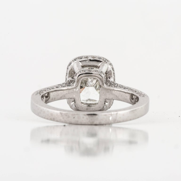 Platinum GIA Certified Diamond Ring For Sale 1