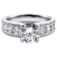 Platinum GIA Diamond Engagement Ring