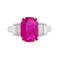 Tiffany & Co. AGL Certified 4.02 Ruby  Diamond Ring,