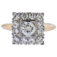 Platinum Gold Diamond Ring