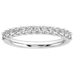 "Platinum Gold Pavia ""U"" Diamond Ring '1/2 Ct. Tw'"