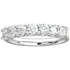 "Platinum Gold Pavia ""U"" Diamond Ring '1 Ct. tw'"
