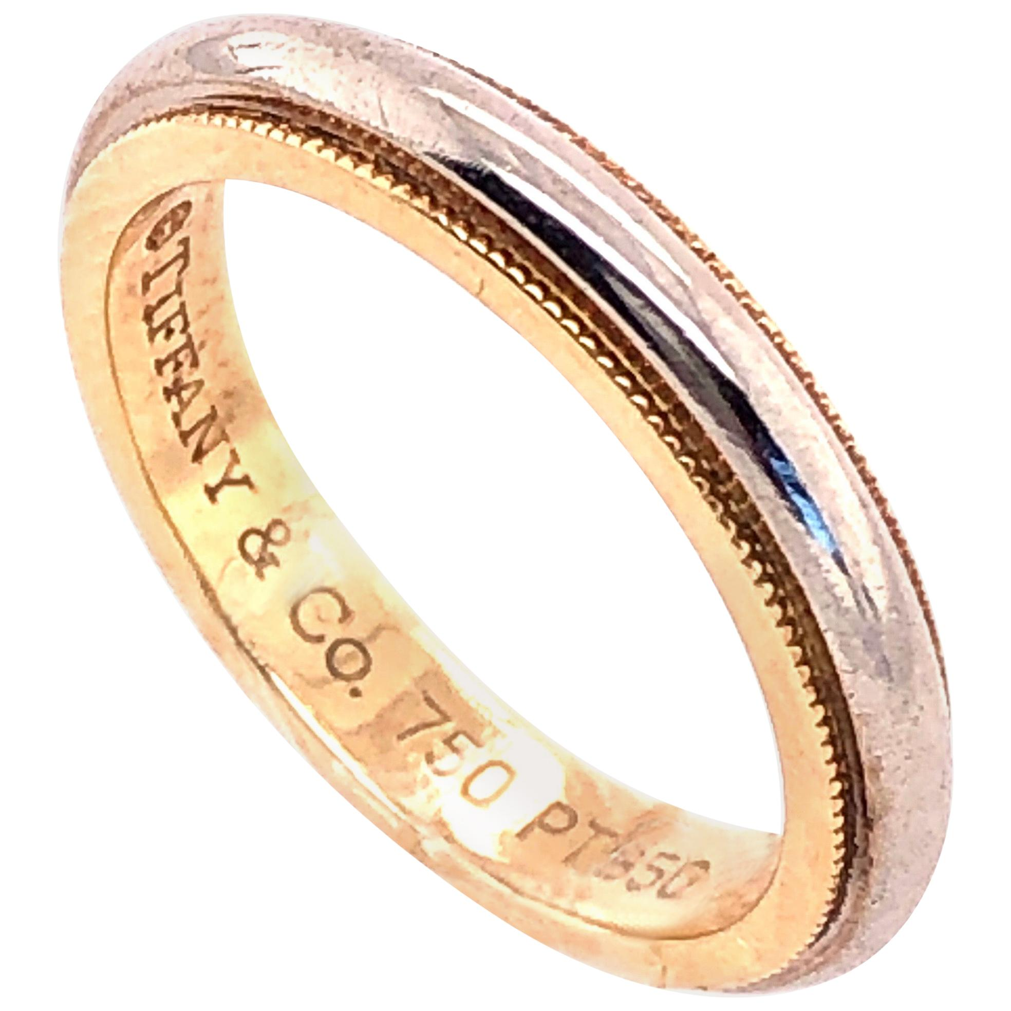 Platinum Gold Tiffany & Co. Band or Wedding Ring