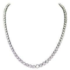 Platinum Graduated Diamond Necklace, Containing 10.00 Carat