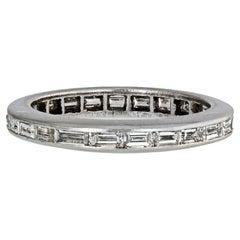 Platinum Horizontal Baguette Cut Diamond Ring 1.50 Carat
