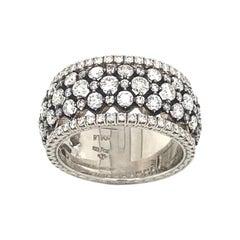 Platinum Jack Kelege Wide Diamond Band Ring