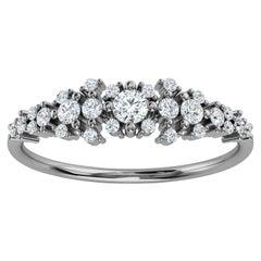 Platinum Kandi Organic Design Diamond Ring '1/4 Ct. tw'