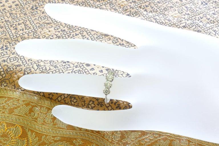 Platinum Late Art Deco 5 High Quality Diamond Ring For Sale 1