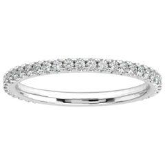 Platinum Lauren French Pave Eternity Ring '1/3 Ct. tw'