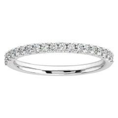 Platinum Lauren French Pave Eternity Ring '1/4 Ct. tw'