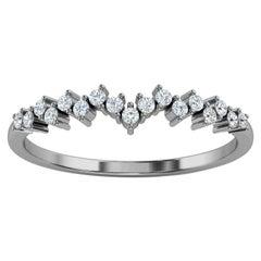 Platinum Liad Petite Organic Design Diamond  Ring '1/6 Ct. tw'
