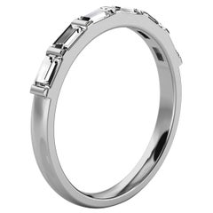 Platinum Lindie Baguette Organic Design Diamond Ring '1/2 Ct. Tw'