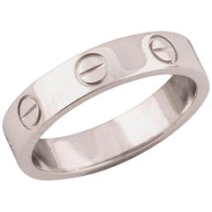 Platinum Love Ring by Cartier