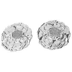 Platinum Marigold Stud Earrings
