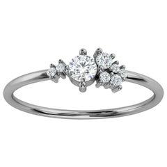 Platinum Marlo Petite Organic Design Diamond Ring '1/4 Ct. tw'