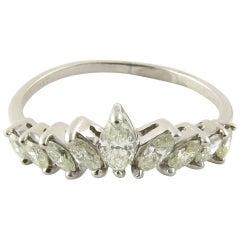 Platinum Marquis Diamond Ring