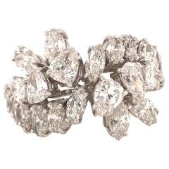 Platinum Marquise and Pear Shape Diamond Band