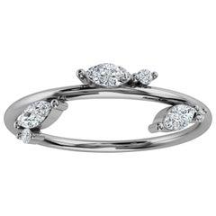 Platinum Marquise & Round Organic Design Diamond Ring '1/6 Ct. Tw'
