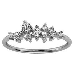 Platinum Masha Delicate Organic Design Diamond Ring '1/3 Ct. Tw'