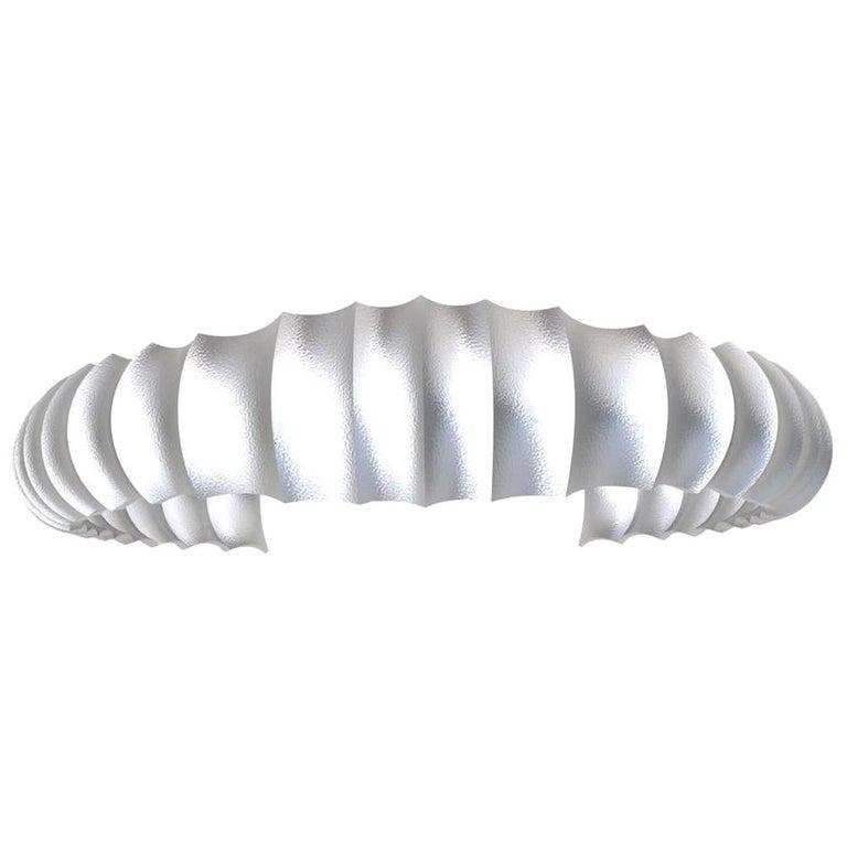 Platinum Men's Concave Cuff Bracelet For Sale