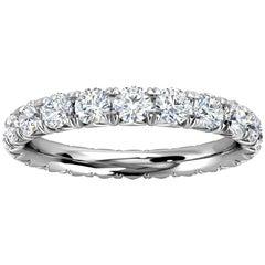 Platinum Mia French Pave Diamond Eternity Ring '1 1/2 Ct. Tw'