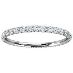 Platinum Mia French Pave Diamond Eternity Ring '1/2 Ct. tw'