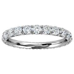 Platinum Mia French Pave Diamond Eternity Ring '1 Ct. Tw'