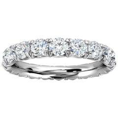Platinum Mia French Pave Diamond Eternity Ring '2 Ct. Tw'