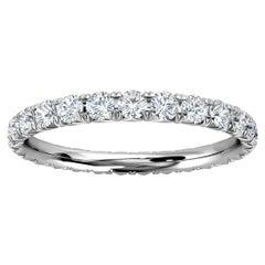 Platinum Mia French Pave Diamond Eternity Ring '3/4 Ct. tw'