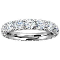 Platinum Mia French Pave Diamond Eternity Ring '3 Ct. Tw'
