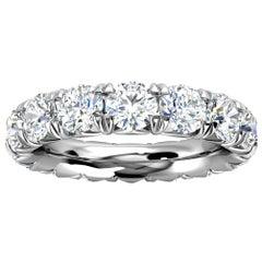 Platinum Mia French Pave Diamond Eternity Ring '4 Ct. tw'