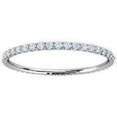 Platinum Mia Petite French Pave Diamond Eternity Ring '1/4 Ct. Tw'