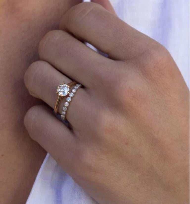 Contemporary Approx 0.70ctw Old European Cut Diamonds Set in a Platinum Eternity Band For Sale