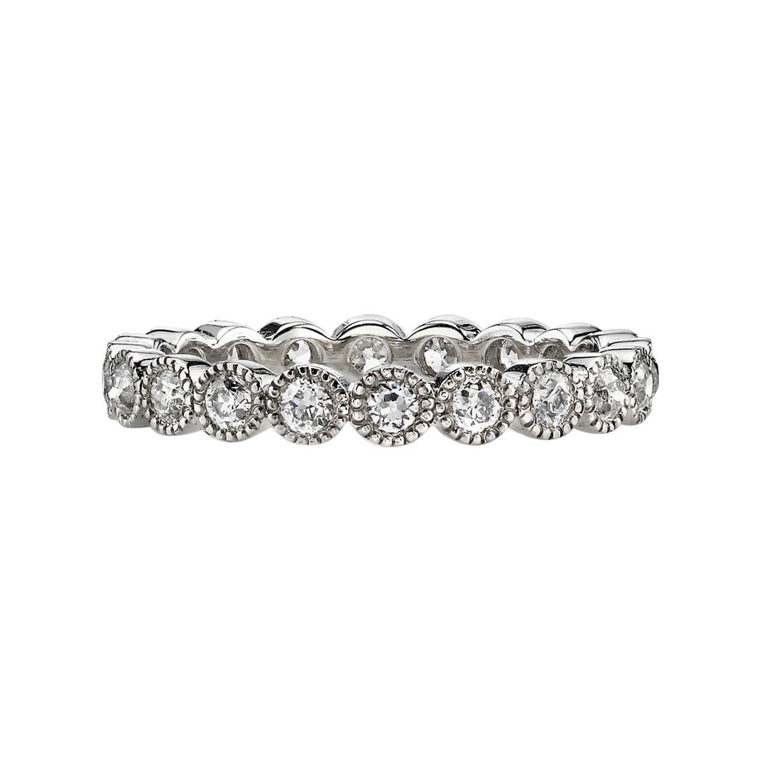 1.00 Carat Old European Cut Diamonds Set in a Handcrafted Platinum Eternity Band