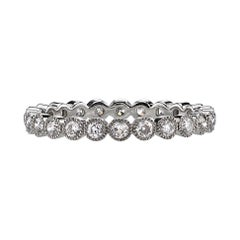 Approx 0.70ctw Old European Cut Diamonds Set in a Platinum Eternity Band