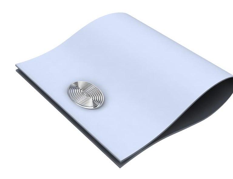 Platinum Optical Art Cyclops Cuff links For Sale 1