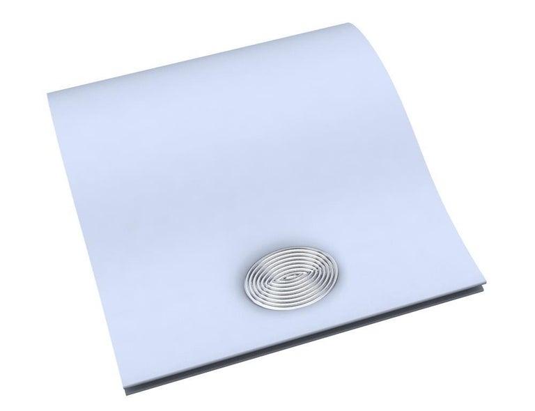 Platinum Optical Art Cyclops Cuff links For Sale 2