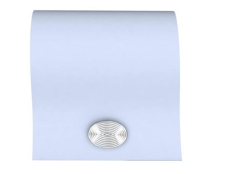 Platinum Optical Art Cyclops Cuff links For Sale 3