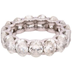 Platinum Oval Diamond Eternity Band