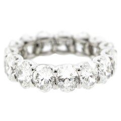 Platinum Oval Diamond Eternity Band 'GIA Certified'