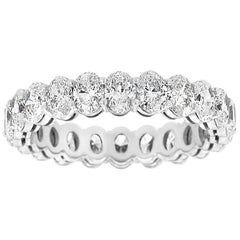 Platinum Oval Eternity Diamond Ring '3 Carat'