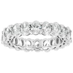 Platinum Oval Eternity Diamond Ring '4 Carat'
