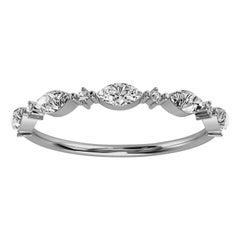 Platinum Petite Marquise Organic Design Diamond Ring '1/4 Ct. Tw'