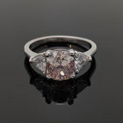 Platinum Pink Diamond Ring