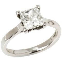 Platinum Princess Cut 1.89 Carat Diamond Solitaire Engagement Ring