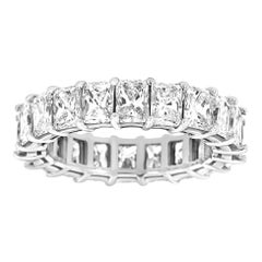 Platinum Radiant Eternity Diamond Ring '6 Carat'