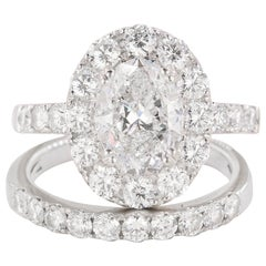 Platinum Ring with 2.51 Carat Oval