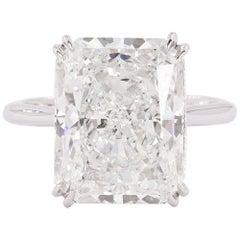 Platinum Ring with GIA Certified 10.08 Carat Diamond