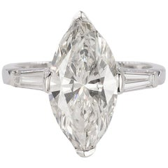 Platinum Ring with GIA Certified 5.01 Carat Marquis Diamond
