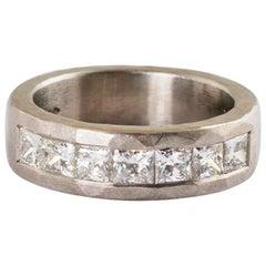 Platinum Princess Cut Diamond Ring  1.10 Carats
